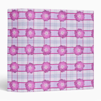 Pink Posies and Plaid 3 Ring Binder