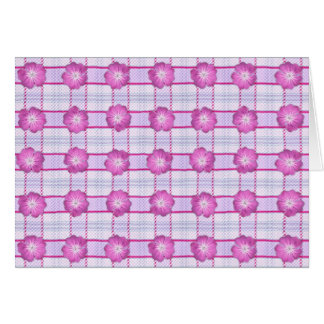 Pink Posies and Plaid Card