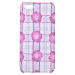 Pink Posies and Plaid iPhone 5C Case