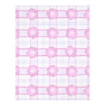 Pink Posies and Plaid Letterhead Template