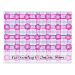 Pink Posies and Plaid Postcard