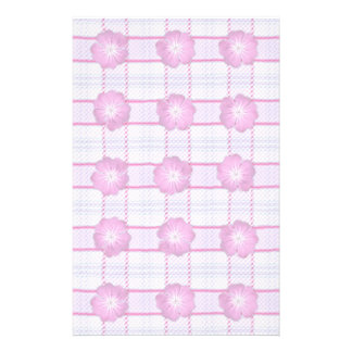 Pink Posies and Plaid Customized Stationery