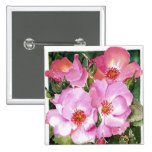 Pink Posies Buttons