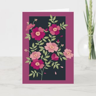 Pink Posies For Mother's Day - Card card