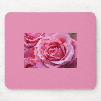 Pink Positive Affirmations Mousepad