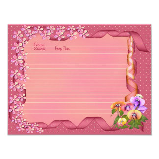 Pink Posy Recipe Cards