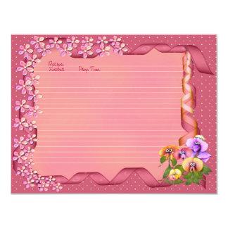 Pink Posy Recipe Cards