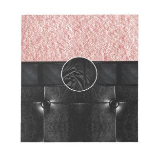 Pink Powder Leather Monogram Memo Note Pads