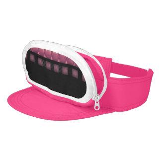 Pink Powder Shiny BLK Leather Visor
