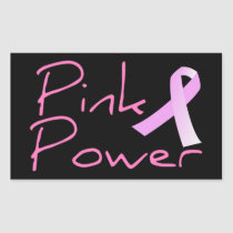 Pink Power Breast Cancer Awareness Sticker