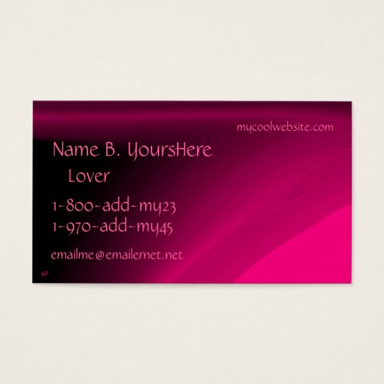 Pink Power Color Business Card