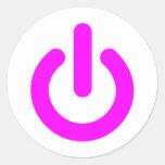 Pink Power On Switch Sticker