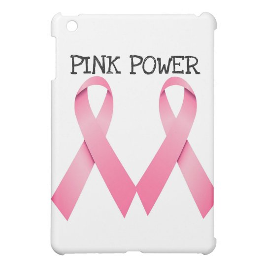 PINK POWER PINK RIBBONS BREAST CANCER AWARENESS iPad MINI COVER