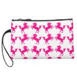 Pink Prancing Horses Wristlet Purse