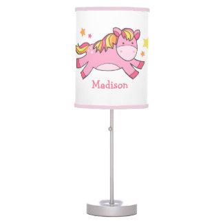 Pink Prancing Pony Table Lamp