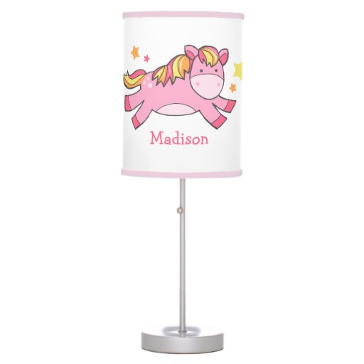 Pink Prancing Pony Table Lamp
