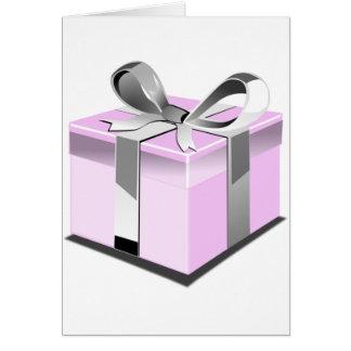 Pink Present Card
