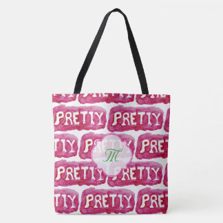 Pink pretty girly watercolor bag