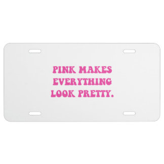 Pink Pretty License Plate