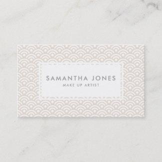 Pink Pretty Pattern Design Modern Make Up Artist Business Card