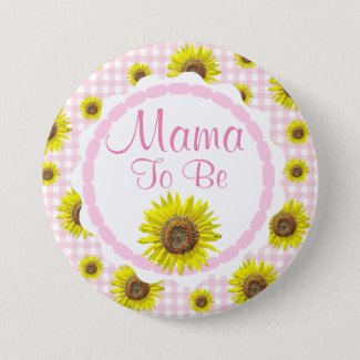 Pink Pretty Sunflowers Mama to be Baby Shower