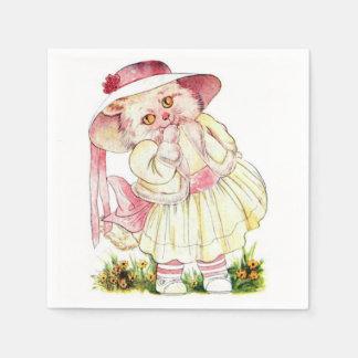 Pink Priceilla CAt Paper Napkins