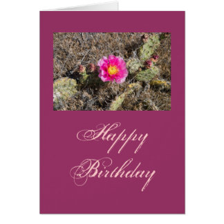 Pink Prickly Pear Flower Gift Card