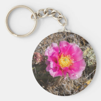 Pink Prickly Pear Key Ring