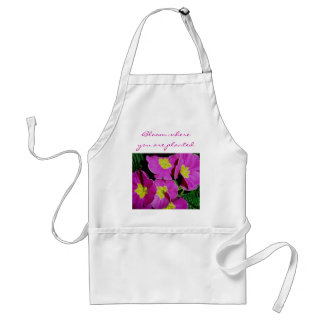 Pink Primrose Bloom where you are planted Apron