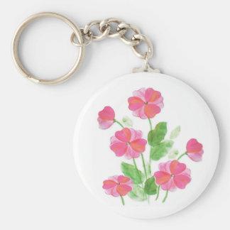 Pink Primrose Keychain