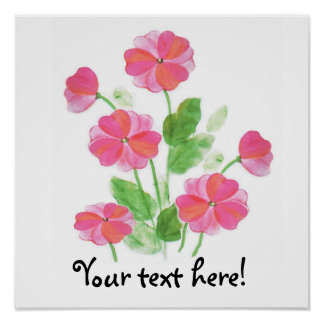 Pink Primrose Poster