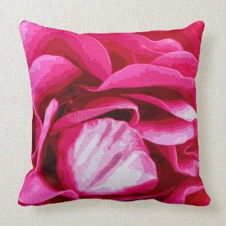 Pink Primrose Throw Pillow