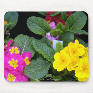 Pink Primrose Yellow Mouse Pads