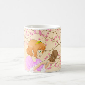 Pink Princess and squirrel mug