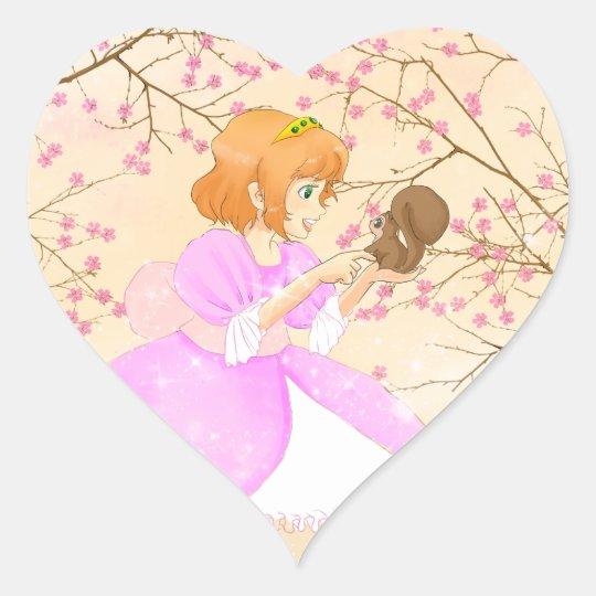Pink Princess and squirrel sticker
