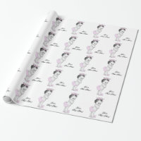 Pink Princess Baby Girl Shower Wrapping Paper