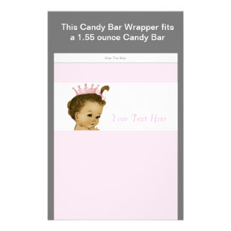 Pink Princess Baby Shower Candy Bar Wrapper