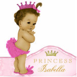 """Pink Princess Baby Shower Cutout<br><div class=""""desc"""">Beautiful pink and gold princess baby shower acrylic sculpture can be personalized and used as a cake top and table decoration and used in baby&#39;s nursery. This pretty pink princess baby shower decoration also makes a perfect personalized gift for a baby girl.</div>"""