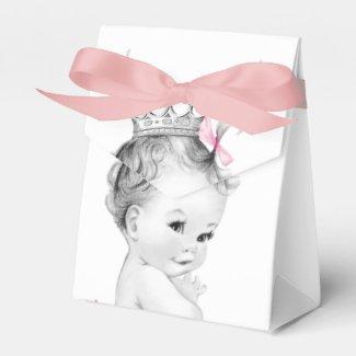 Pink Princess Baby Shower Favor Box
