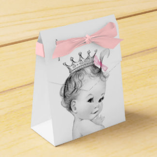 Pink Princess Baby Shower Favor Box