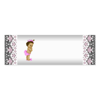 Pink Princess Baby Shower Favor Tags Business Card Template