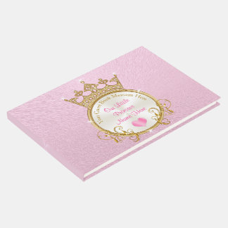 Pink Princess Baby Shower Guest Book PERSONALIZED