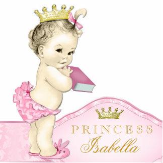 Pink Princess Baby Shower Standing Photo Sculpture