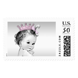 Pink Princess Baby Shower Postage Stamp