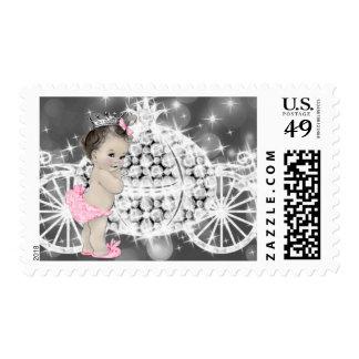 Pink Princess Baby Shower Postage Stamp