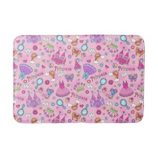 Pink Princess Bath Mat