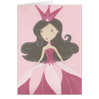Pink Princess Birthday Card