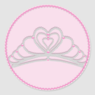 Pink Princess Birthday Cupcake Toppers Stickers