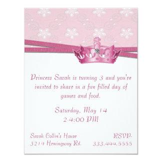 Pink Princess Birthday Invitation