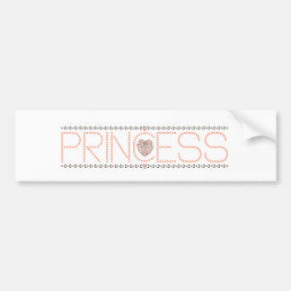 Pink Princess Bumper Sticker